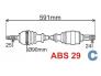 Приводной вал комплектный левый Berlingo/Partner ABS 29
